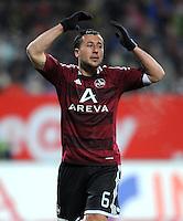 FUSSBALL   1. BUNDESLIGA  SAISON 2011/2012   20. Spieltag 1. FC Nuernberg - Borussia Dortmund         03.02.2012 Dominic Maroh (1 FC Nuernberg)