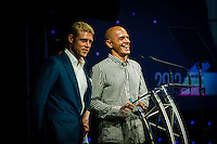 SURFERS PARADISE, Queensland/Australia (Friday, March 1, 2013) Mick Fanning (AUS) and Kelly Slater (USA). - The world's best surfers congregated last night at the QT Hotel in Surfers Paradise to celebrate the 2013 ASP World Surfing Awards, officially crowning last year's ASP World Champions and welcoming in the new year..Joel Parkinson (AUS), 31, long considered to be a threat to the ASP World Title ever since his inception amongst the world's elite over a decade ago, was awarded his maiden crown last night. Amidst a capacity crowd of the world's best surfers and hometown supporters, the Gold Coast stalwart brought the house down with a heartfelt and emotional speech..?It's beautiful to have everyone here tonight,? Parkinson said. ?We all come together and really celebrate last season amongst our friends and family. The new year, for me, begins tomorrow. Tonight, I just feel so fortunate to be up here and to be supported by my beautiful family. I love them and am only here because of them.?.FULL LIST OF AWARDS' RECIPIENTS:.2012 ASP World Champion: Joel Parkinson (AUS).2012 ASP World Runner-Up: Kelly Slater (USA).2012 ASP Rookie of the Year: John John Florence (HAW).2012 ASP Women's World Champion: Stephanie Gilmore (AUS).2012 ASP Women's World Runner-up: Sally Fitzgibbons (AUS).2012 ASP Women's Rookie of the Year: Malia Manuel (HAW).2012 ASP Breakthrough Performer: Sebastian Zietz (HAW).2012 ASP Women's Breakthrough Performer: Lakey Peterson (USA).2012 ASP World Longboard Champion: Taylor Jensen (USA).2012 ASP Women's World Longboard Champion: Kelia Moniz (HAW).2012 ASP World Junior Champion: Jack Freestone (AUS).2012 ASP Women's World Junior Champion: Nikki Van Dijk (AUS).ASP Life Member/Chairman Emeritus: Richard Grellman.ASP Service to the Sport: Randy Rarick.Peter Whittaker Award: Adrian Buchan.2012 ASP Men's Heat of the Year (Fan Vote): Mick Fanning (AUS) vs. Kelly Slater (USA) - Rip Curl Pro Bells Beach.2012 ASP Women's Heat of the Year (Fan Vote): Laura Eneve
