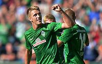 FUSSBALL   1. BUNDESLIGA   SAISON 2012/2013   2. Spieltag SV Werder Bremen - Hamburger SV                     01.09.2012         Nils Petersen (SV Werder Bremen) bejubelt seinen Treffer zum 2:0