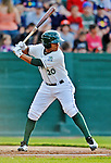 19 July 2012: Vermont Lake Monsters infielder Christopher Bostick in action against the Tri-City ValleyCats at Centennial Field in Burlington, Vermont. The ValleyCats defeated the Lake Monsters 6-3 in NY Penn League action. Mandatory Credit: Ed Wolfstein Photo