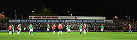Lincoln City fans during the game<br /> <br /> Photographer Andrew Vaughan/CameraSport<br /> <br /> The Buildbase FA Trophy Semi-Final First Leg - York City v Lincoln City - Tuesday 14th March 2017 - Bootham Crescent - York<br />  <br /> World Copyright &copy; 2017 CameraSport. All rights reserved. 43 Linden Ave. Countesthorpe. Leicester. England. LE8 5PG - Tel: +44 (0) 116 277 4147 - admin@camerasport.com - www.camerasport.com