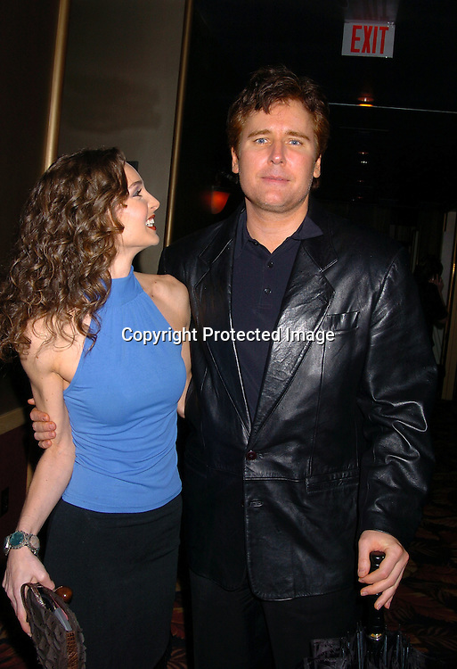 Michael E Knight and Alicia Minshew..at the All My Children Christmas party at the Copacabana  on December 17, 2003. Photo by Robin Platzer, Twin Images.