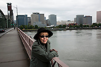 Author Katherine Dunn, photographed in Portland Oregon