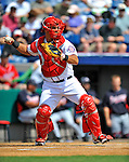6 March 2011: Washington Nationals' catcher Wilson Ramos in action during a Spring Training game against the Atlanta Braves at Space Coast Stadium in Viera, Florida. The Braves shut out the Nationals 5-0 in Grapefruit League action. Mandatory Credit: Ed Wolfstein Photo