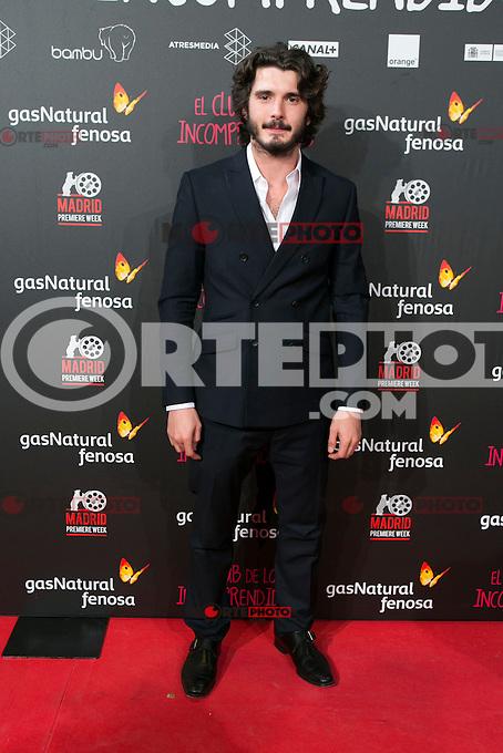 Jon Gonzalez attend the Premiere of the movie &quot;El club de los incomprendidos&quot; at callao Cinema in Madrid, Spain. December 1, 2014. (ALTERPHOTOS/Carlos Dafonte) /NortePhoto<br /> /NortePhoto