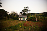 A farmer's house, in tobacco growing region of Vinales, Cuba, on Sunday, April 21, 2008..