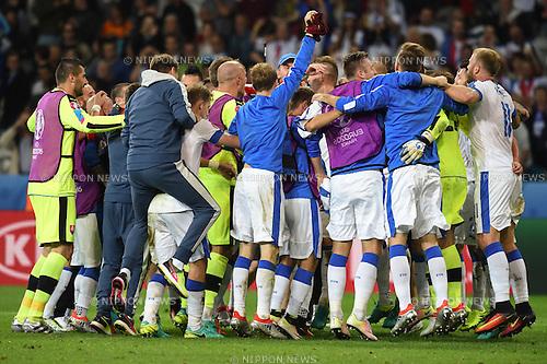 Final Joy Group (Slovakia) ; <br /> June 15, 2016 - Football : Uefa Euro France 2016, Group B, Russia 1-2 Slovakia at Stade Pierre Mauroy, Lille Metropole, France. (Photo by aicfoto/AFLO)