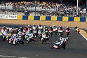 May 23, 2010 - Le Mans, France - The 125cc riders start from the grid during the 125cc race of the French Grand Prix on May 23, 2010 in Le Mans, France. (Photo Andrew Northcott/Nippon News).