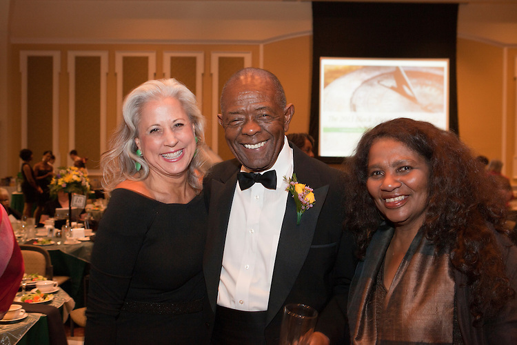 "Col. Frank E. Underwoood and Jennifer Neubauer at ""Celebrating Black Heritage at Ohio University Through the Decades"" at the Black Alumni Reunion Gala in Baker Center on September 28, 2013."