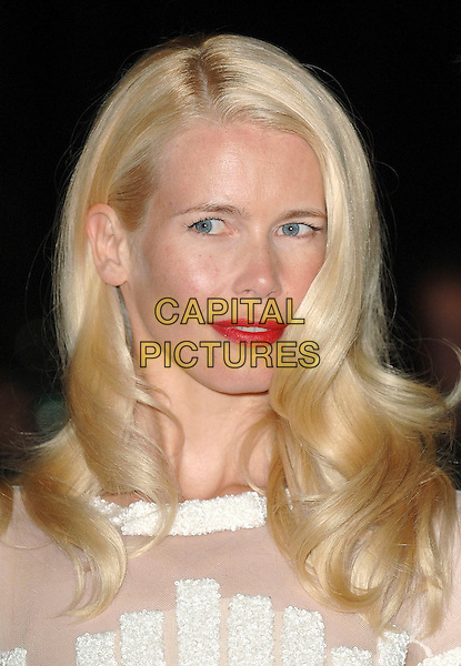 CLAUDIA SCHIFFER.Attending the V&A Golden Age of Couture Gala 2007, Victoria & Albert Museum, London, England,.18th August 2007..portrait headshot red lipstick.CAP/ BEL.©Tom Belcher/Capital Pictures.