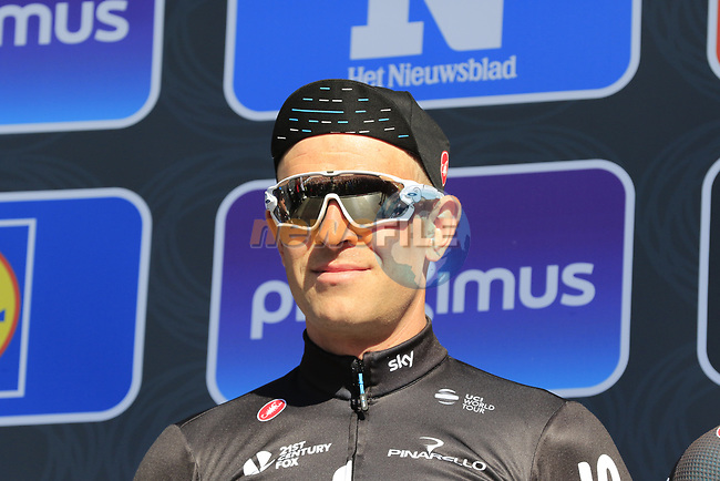 Ian Stannard (GBR) Team Sky on stage at sign on before the start of Gent-Wevelgem in Flanders Fields 2017, running 249km from Denieze to Wevelgem, Flanders, Belgium. 26th March 2017.<br /> Picture: Eoin Clarke | Cyclefile<br /> <br /> <br /> All photos usage must carry mandatory copyright credit (&copy; Cyclefile | Eoin Clarke)