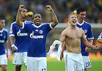 Fussball 1. Bundesliga :  Saison   2012/2013   8. Spieltag  20.10.2012 Borussia Dortmund - FC Schalke 04 Jubel nach dem Sieg Jefferson Farfan und Lewis Holtby (v. li., FC Schalke 04)