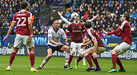 Bolton Wanderers' Darren Pratley battles with Northampton Town's Jak McCourt in the area<br /> <br /> Photographer Alex Dodd/CameraSport<br /> <br /> The EFL Sky Bet League One - Bolton Wanderers v Northampton Town - Saturday 18th March 2017 - Macron Stadium - Bolton<br /> <br /> World Copyright &copy; 2017 CameraSport. All rights reserved. 43 Linden Ave. Countesthorpe. Leicester. England. LE8 5PG - Tel: +44 (0) 116 277 4147 - admin@camerasport.com - www.camerasport.com