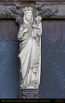 Madonna and Child over South Entrance, Onze-Lieve-Vrouwkerk Church of Our Lady, Bruges, Brugge, Belgium