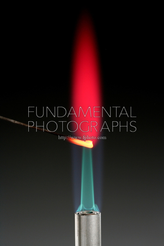LITHIUM FLAME TEST<br /> (Variations Available)<br /> Magenta Flame Shows Presence Of Lithium<br /> Alkali metal - Lithium compound is dissociated by flame into gaseous atoms, not ions. The atoms of the element are raised to excited state by high temperature of flame. Excess energy from the atom is emitted as light of a characteristic wavelength.