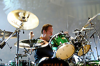 Lars Ulrich and Metallica perform at the LA Forum