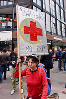 Milano 1 Maggio 2015<br /> Mayday  NoExpo  <br /> Manifestazione  contro l'apertura dell'Esposizione universale Milano 2015. Staffetta Sanitaria.<br /> Milan, May 1, 2015<br /> Mayday NoExpo<br /> Demonstration to protest against Universal Exposition Milano 2015. Relay Health