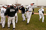 Vale Vikings take the field at the start of the game against New Plymouth at Cammann Field on April 28, 2011.