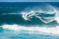 SUNSET BEACH, Oahu/Hawaii (Friday, December 5, 2014): Garrett Parkes (AUS). The Vans World Cup of Surfing was  called ON this morning with competition begining with Round 4. <br /> A new NW 6 - 8 foot swell was on hand for the final which built through the day to 10 foot plus by the afternoon.<br /> Four island boys reached the final, three from the islands of Hawaii and one from the islands of tahiti. By the final hooter it was the Tahitian Michel Bourez (PYF) who emerged vitreous with Dusty Payne (HAW) 2nd, Sebastien Zietz (HAW) 3rd and Ian Walsh (HAW) 4th. Photo: joliphotos.com