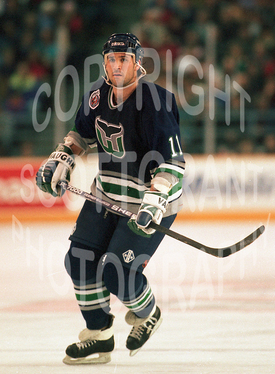 Yvon Corriveau Hartford Whalers 1993. Photo F. Scott Grant