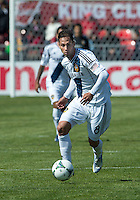 30 March 2013: Los Angeles Galaxy midfielder Marcelo Sarvas #8 in action during an MLS game between the LA Galaxy and Toronto FC at BMO Field in Toronto, Ontario Canada..The game ended in a 2-2 draw..
