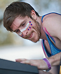Singer Nicholas Petricca of Cincinnati based band Walk the Moon performs at the KROW Weenie Roast y Fiesta.
