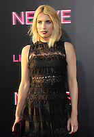 """NEW YORK, NY - July 12: Emma Roberts attends the World premiere of """"Nerve"""" at the SVA Theater on July 12, 2016 in New York City.Credit: John Palmer/MediaPunch"""