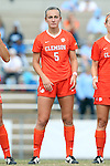 25 October 2015: Clemson's Claire Wagner. The University of North Carolina Tar Heels hosted the Clemson University Tigers at Fetzer Field in Chapel Hill, NC in a 2015 NCAA Division I Women's Soccer game. UNC won the game 1-0.