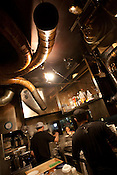 In the kitchens of the Bassa Nova ramen restaurant in Shindaita district, in Tokyo, Japan, Wednesday 28th April 2010.