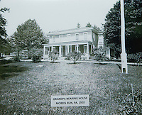 A historic photo of W. Scott Nearing's house in Morris Run 1920.