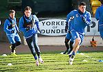 St Johnstone Training&hellip;.17.02.17<br />Danny Swanson pictured alongside Michael Coulson during training this morning at McDiarmid Park ahead of tomorrow&rsquo;s trip to Dingwall<br />Picture by Graeme Hart.<br />Copyright Perthshire Picture Agency<br />Tel: 01738 623350  Mobile: 07990 594431