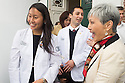 Alyssa Kwok, left. Class of 2017 White Coat Ceremony.