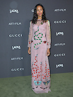 LOS ANGELES, CA. October 29, 2016: Actress Zoe Saldana at the 2016 LACMA Art+Film Gala at the Los Angeles County Museum of Art.<br /> Picture: Paul Smith/Featureflash/SilverHub 0208 004 5359/ 07711 972644 Editors@silverhubmedia.com