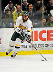9 January 2009: University of Vermont Catamounts' forward Viktor Stalberg, a Junior from Gothenburg, Sweden, controls the puck during the first game of a weekend series against the Boston College Eagles at Gutterson Fieldhouse in Burlington, Vermont. The Catamounts scored with one second remaining in regulation time to earn a 3-3 tie with the visiting Eagles. Mandatory Photo Credit: Ed Wolfstein Photo