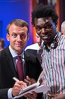 Emmanuel Macron during a meeting at the ' Brussels Days ' - Belgium