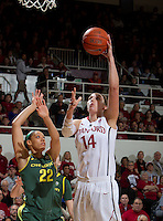 STANFORD, CA - February 26, 2011:  Kayla Pedersen scores during Stanford's 99-60 victory over Oregon at Stanford, California on February 26, 2011.