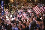"Democratic National Convention, 2008: Former President William ""Bill"" Clinton speaks before assembled delegates. Denver, Colorado, August 27, 2008."