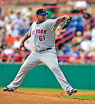 8 March 2009: New York Mets' pitcher Livan Hernandez in action during a Spring Training game against the Washington Nationals at Space Coast Stadium in Viera, Florida. The Nationals defeated the Mets 8-3 in the Grapefruit League matchup. Mandatory Photo Credit: Ed Wolfstein Photo