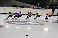 SCHAATSEN: HEERENVEEN; 15-10-2014, IJstadion Thialf, Shorttrack Time Trial Thialf, ©foto Martin de Jong
