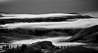 Low cloud layers in the Methow Valley, Washington