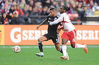 Washington D.C. - November 8, 2014:   D.C. United defeated the New York Red Bulls  2-1 in the second leg of the MLS playoffs, but lost in the aggregate overall score 3-2 at RFK Stadium.