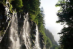 Waterfalls in spring in North Cascades National Park, WA, USA