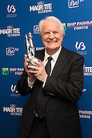 Andr&eacute; Dussollier  ( Magritte d'honneur ) : 7&egrave;me C&eacute;r&eacute;monie des Magritte du Cin&eacute;ma, qui r&eacute;compense le septi&egrave;me art belge, au Square, &agrave; Bruxelles - Salle de presse.<br /> 7th edition of the Magritte du Cinema awards ceremony - Press Room<br /> Belgium, Brussels, 4 February 2017