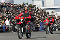TOKYO - JANUARY 06: Members of the Tokyo Fire Department parade during the New Year's fire review conducted by the Tokyo Fire Department at Tokyo Big Sight on January 6, 2010 in Tokyo, Japan. The annual event, featuring various demonstrations of the latest firefighting and emergency rescue techniques, aims to promote the prevention of fire and disaster. About 2,700 professional firefighters and members of community-based fire companies in Tokyo and 137 fire vehicles, helicopters and ships were mobilized for the annual demonstration. (Photo by Laurent Benchana/Nippon News)
