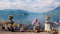 The gardens of Villa Monastero, Varenna, Italy, on Lake Como.