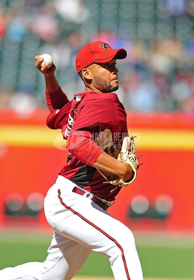 Apr. 3, 2010; Phoenix, AZ, USA; Arizona Diamondbacks pitcher Jordan Norberto against the Chicago Cubs at Chase Field. Mandatory Credit: Mark J. Rebilas-