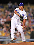 22 July 2011: Los Angeles Dodgers pitcher Hong-Chih Kuo in action against the Washington Nationals at Dodger Stadium in Los Angeles, California. The Nationals defeated the Dodgers 7-2 in their first meeting of the 2011 season. Mandatory Credit: Ed Wolfstein Photo