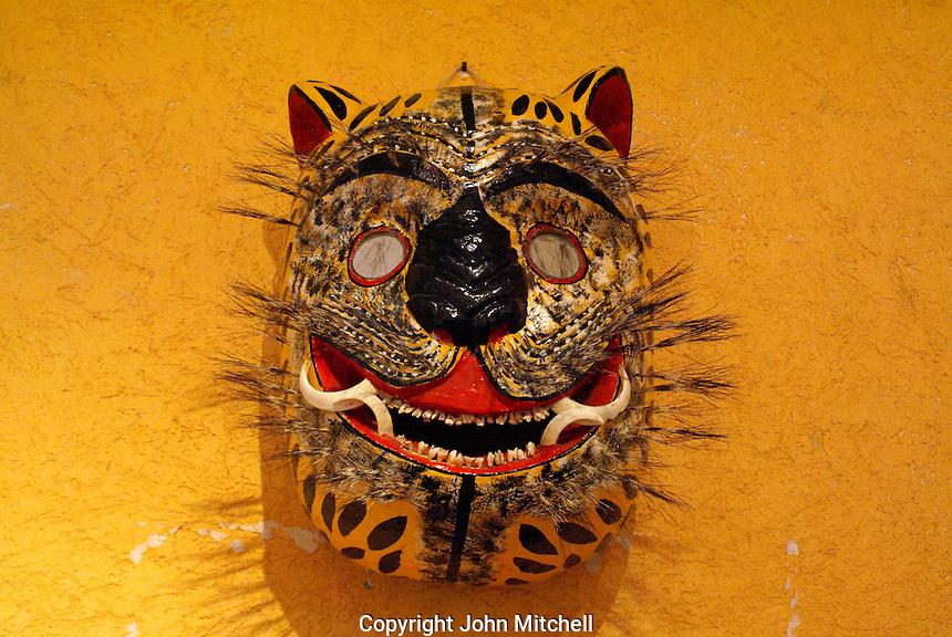 Ceremonial jaguar mask, Museo Casa de la Mascara, Acapulco, Mexico