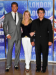 the launch of the new series of Britain's Got Talent at the mayfair hotel london 13/04/2011  Amanda Holden, David..Hasselhoff and Michael McIntyre Picture By: Brian Jordan / Retna Pictures..Job:..Ref: BJN  ..-..*World Rights*