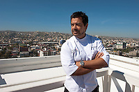 Javier Plascencia, chef and owner at Misio 19 restaurant at Via Corporativo, Tijuana.  ..© Stefan Falke.http://www.stefanfalke.com/..